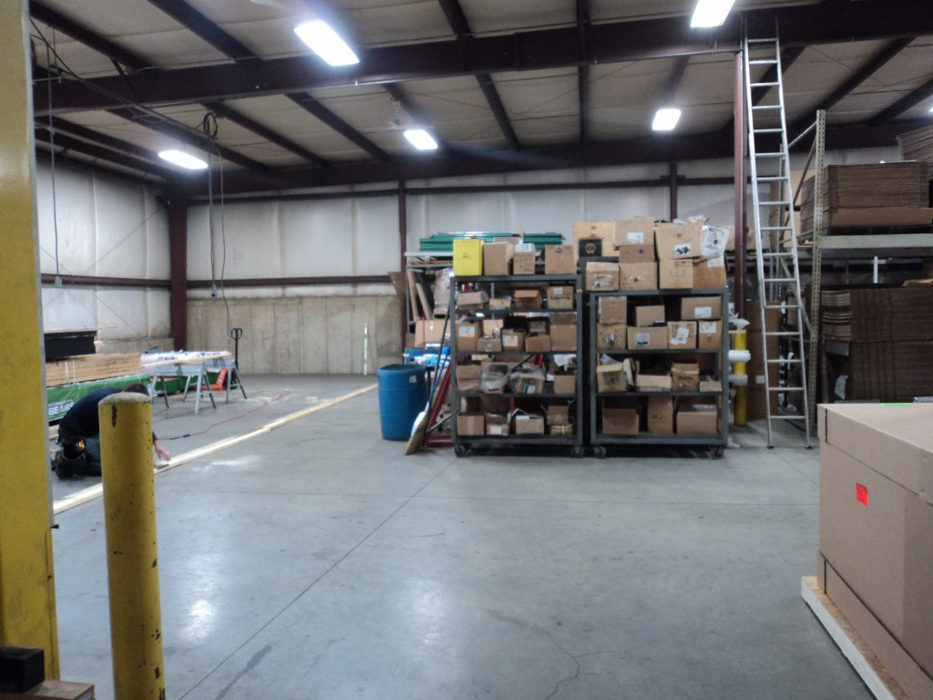 Part of the back warehouse getting ready for construction.